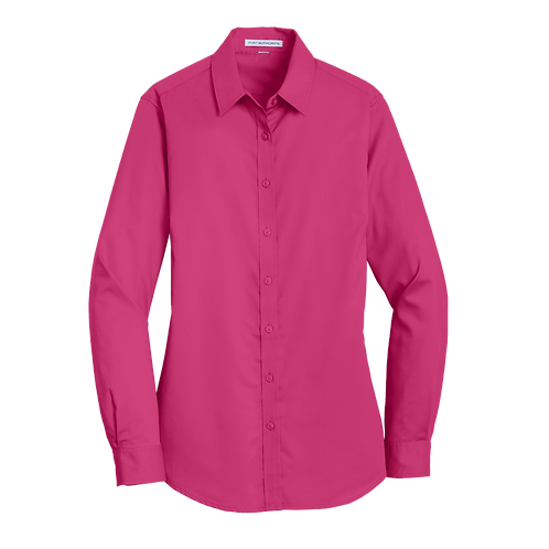 L663  Port Authority® Ladies SuperPro™ Twill Shirt