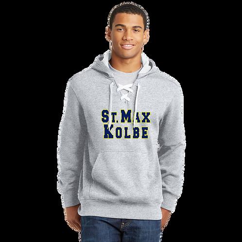 ST271 Applique Sport-Tek® Lace Up Pullover Hooded Sweatshirt
