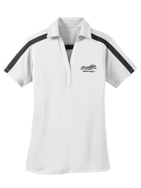 Port Authority® Ladies Silk Touch™ Performance Colorblock Stripe Polo