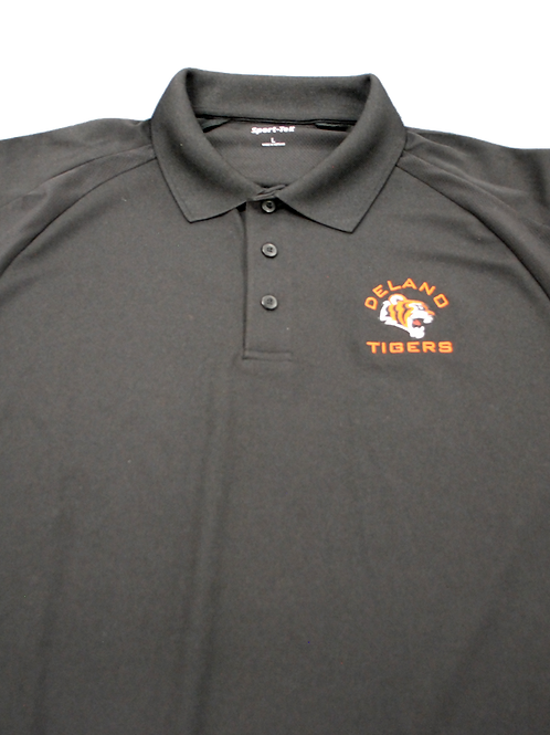 Black Adult Short Sleeve Polo - Large