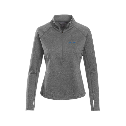 CL-37 LADIES ALPHA HEATHERED 1/4-ZIP PULLOVER