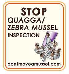 Stop Sign for quagga/zebra mussel inspection