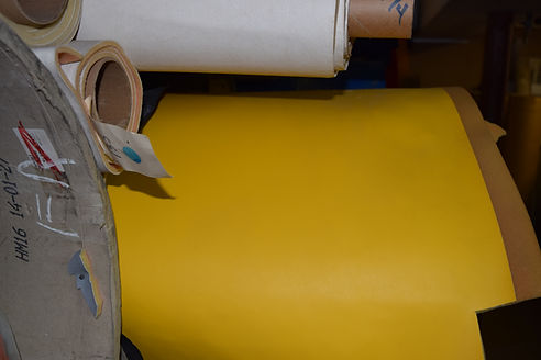 Formula Sunburt yellow 1/4 inch foam backed vinyl