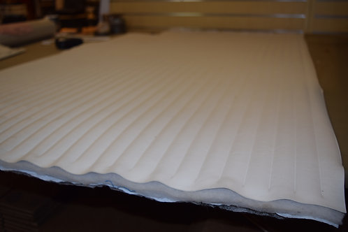 Mystic white pleated vinyl 1'',2'',3'',4''