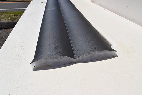 2'',3'',4'' Pebble grain black pleated vinyl Marine and Automotive grade