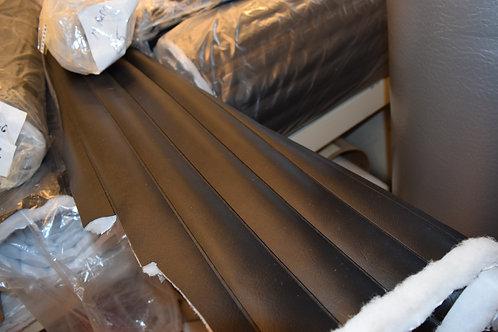 1'', 2 '', 3'' and 4'' Black pleated marine grade vinyl
