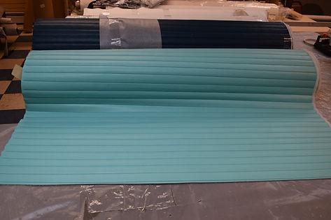 Seaquest 1 1/2 inch aqua pleated vinyl