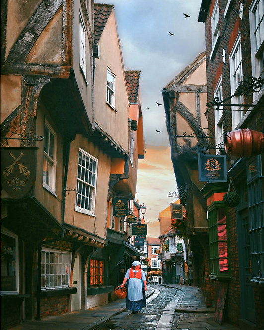 The Shambles ( Diagon Alley ) - York   ~ Jigsaw Puzzle , A3 size, 285 pieces