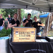 Bonfire Station Brewing Co. at the Twilight Market in Taggerty