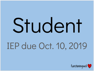 IEP at a Glance cover slide
