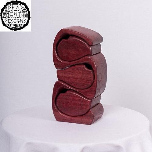 Cobra box made in Purpleheart wood.