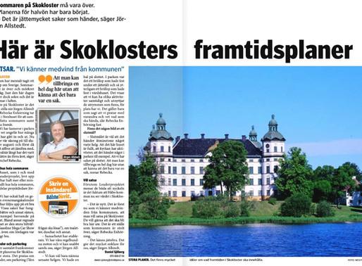 Tidningsreportage om Skokloster