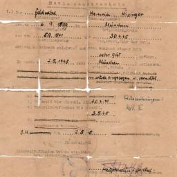 Himmler's Fake Identity Pass