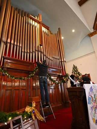 Organ and Christmas Tree