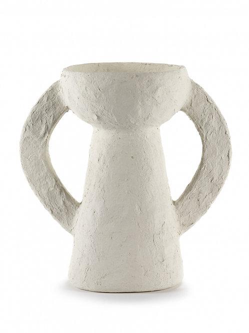 Vase L White Earth