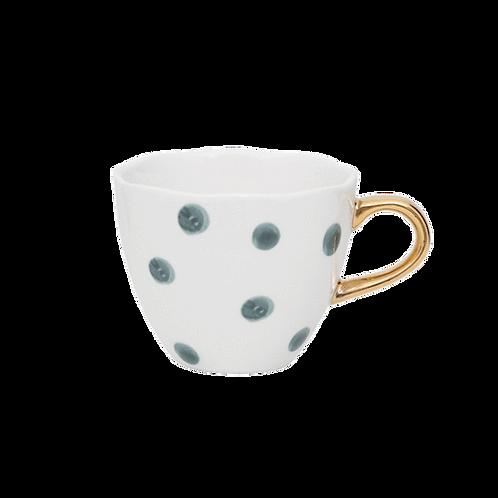 Good Morning Cup Mini Small Dots Blue Green