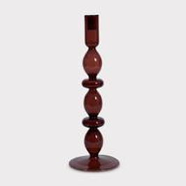 Urban Nature Culture Recycled Glass Candle Holder L Russet Brown