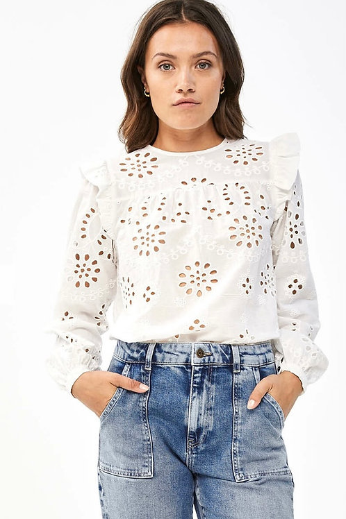 By Bar Mila Embroidery Blouse Off White