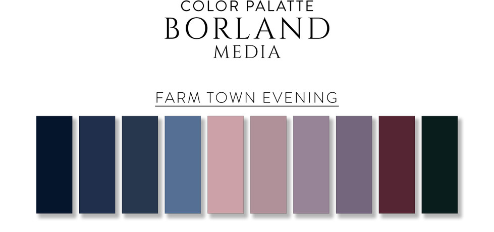 Farm Town Evening