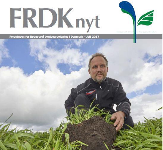 Jan Møllegaard, Varde, blev i februar i år valgt ind i bestyrelsen for FRDK. Han begyndte for omkring 15 år siden at drive pløjefrit for at øge kapaciteten. Men efter få år gik det op for ham, at opbygning af en stor pulje organisk materiale i jorden er meget vigtigere end høj kapacitet. Sund jord er blevet det vigtigste for ham