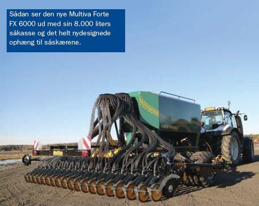 Multiva's nye seks meter såmaskine