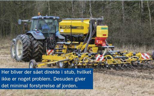 På Mollerup Storgaard nær Silkeborg har en ny Claydon såmaskine på kort tid givet storebesparelser i både tid og penge. Og ukrudtet holder sig tilsyneladende væk