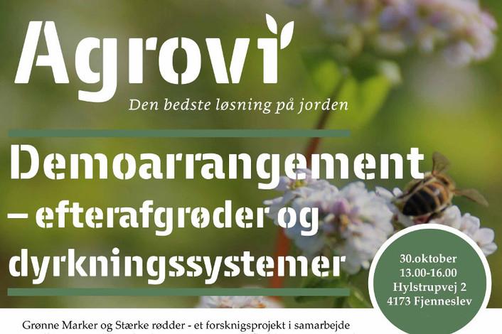 Demoarrangement – efterafgrøder og dyrkningssystemer 30. oktober