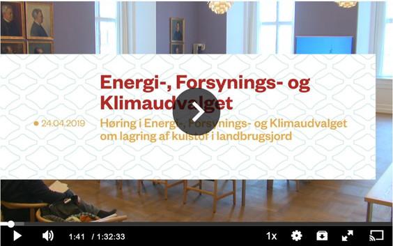 Præsentationer og TV optagelse af: Åben høring om Conservation Agriculture. 24. april i Folketinget
