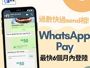 過數仲快過send相?WhatsApp Pay最快6個月內登陸!