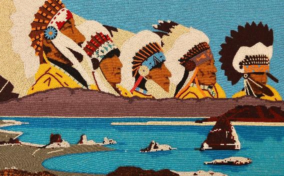Burton Pete, beaded panel