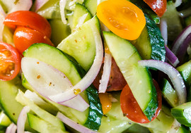 Marinated Cucumber & Cherry Tomato Salad