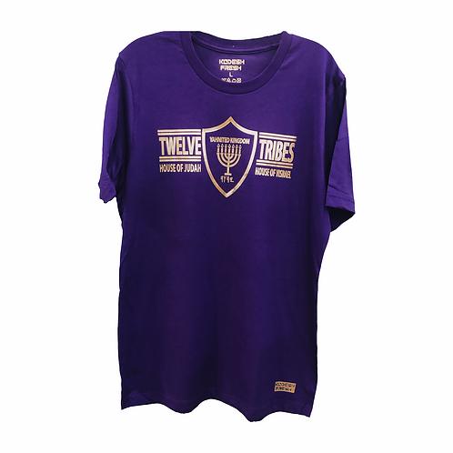 Yahnited Kingdom 12 Tribes Gold Print T-Shirt