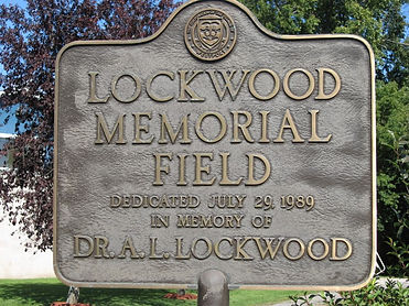 Sign Dedication in memory of Dr. A.L. Lockwood