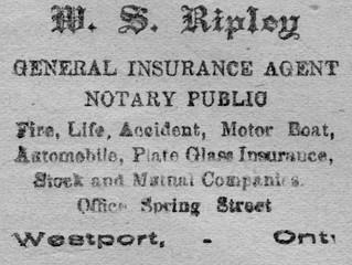 Part Forty-Eight ~ Ninety-Nine Years Ago in Westport
