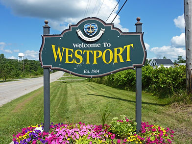 Sign entering Municipality of the Village of Westport