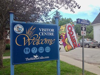 photo of Westport Visitor Centre Sign