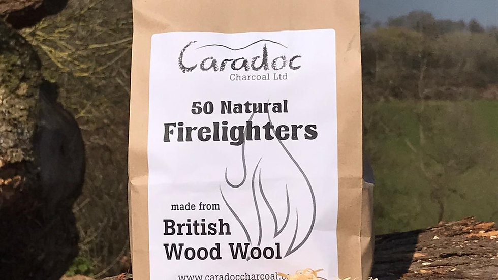 50 Natural Wood Wool Firelighters