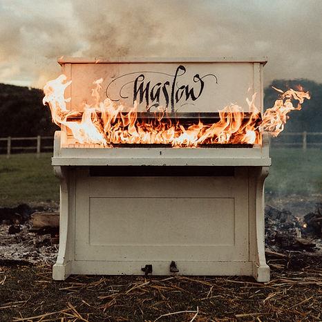 Maslow Cover Artwork Ilona Mahieu Piano Fire Field