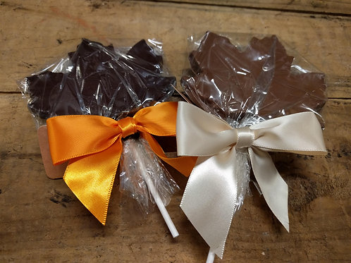 Maple Lollipops - Solid Chocolate