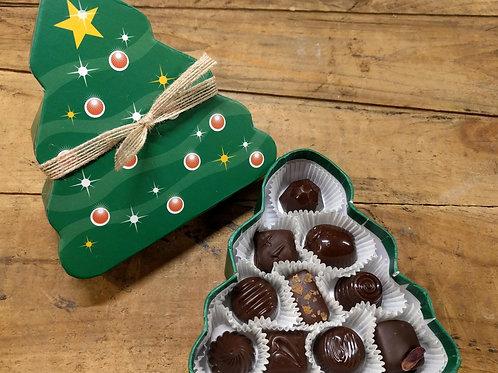 Holiday Tree - 10 Pc. Assorted Dark Chocolates