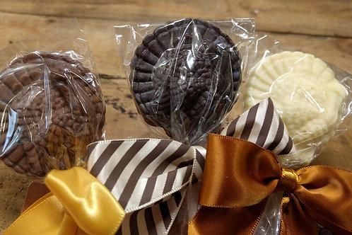 Turkey Lollipops - Solid Chocolate