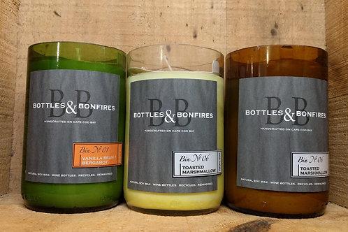 Bottles & Bonfire Candle