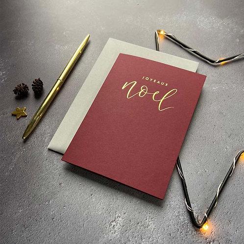 Joyeaux Noel Christmas Card