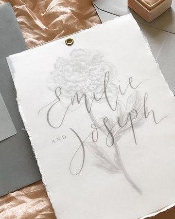 Hand Drawn Wedding Invitations Bespoke F