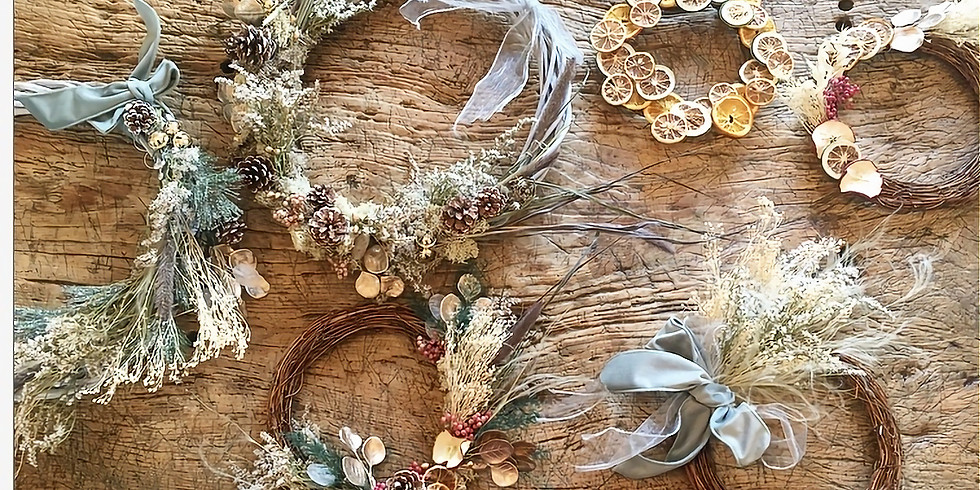 SOLD OUT - Christmas Dried Wreath and Beginner's Calligraphy Workshop | Silchester | 06.12.20