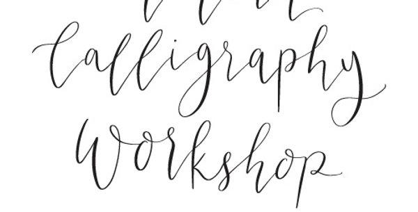 Modern Calligraphy Workshop Voucher