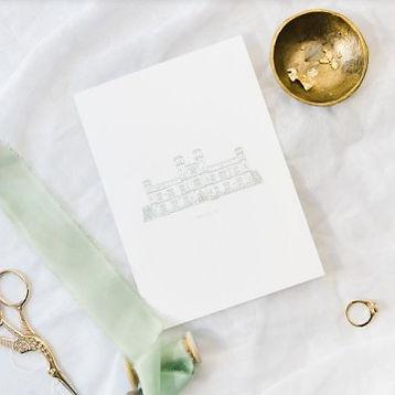 Wedding Venue Illustration Gift Custom