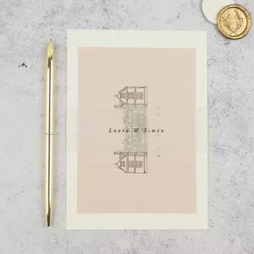 Venue Illustration Wedding Invitations U
