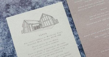 Wedding Venue Illustration Bespoke Drawi