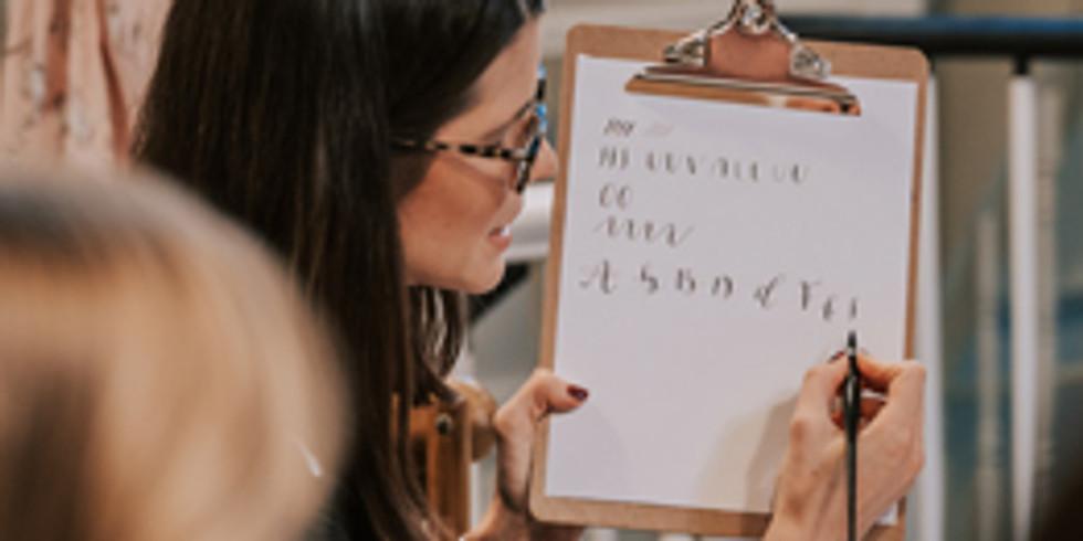 Improvers Modern Calligraphy Workshop | Warfield | 24.06.21